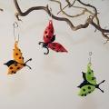 3 Käfer zum Hängen grün, Flügel offen -Neu-