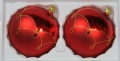 Kugeln 10 cm mattrot mit Tropfenmuster, Goldglimmer NEU-