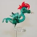 Orchideenstab Drachen , türkis-rot