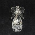 Glas-Engel, klar-silber   -Neu-