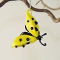 Glückskäfer zum Hängen gelb, Flügel offen -Neu-