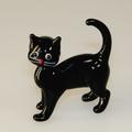 Katze schwarz, stehend