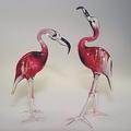 Flamingopaar rosalin Klarglas