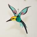 Bienenfresser , Vogel hängend, türkis-violett-schwarz -NEU-