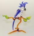Kakadu auf Ast groß, stehend,  kristall mit blau  -NEU-