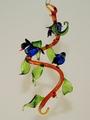 Blätterranke, zum Hängen, mit 3 blauen Vögeln (Blaumeisen)