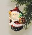 Santa klein mit Stern mit Brilliantglimmer  -NEU-