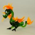 Drachen stehend, grün-orange     -NEU-
