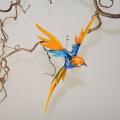 Paradiesvogel groß hängend, aquablau-orange -NEU-