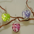 Ostereier, 3 Stück mit Glasgranulaten, farbig sortiert