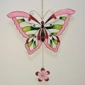 Hänger Schmetterling, Tiffany rose-grün