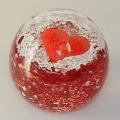 Traum-Glas-Kugel groß, rotes Herz