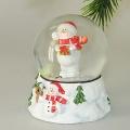 Schneefallkugeln  mit Schneemann mit Geschenk rot/weiß
