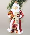 Santa mit Liste, mundgeblasen und handgemalt  -NEU-