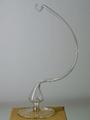 Glasständer Klarglas für eine Kugel oder Glocke d 8 cm