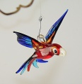 Papagei Mini, rubinrot, hellblau, kobaltblau  -NEU-