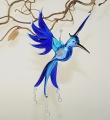 Phönix hängend, groß, hellblau-blau   -NEU-