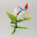 Kolibri klein auf Zweig mit Orchidee   -NEU-